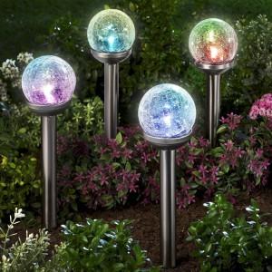 Соларна лампа за градина Топка променящи цветове