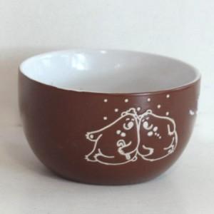 Коледна купа за супа керамична Т13-105