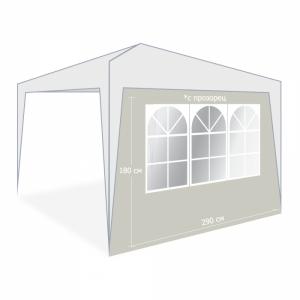 Страници за шатра Taupe с прозорец