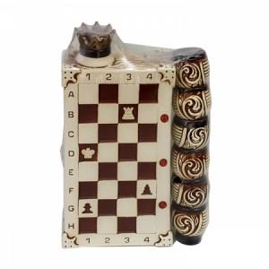 Бутилка шахматна дъска с 6чаши  УК-205