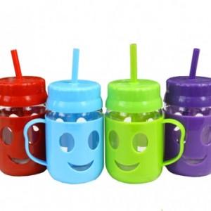 Буркан-чаша Усмивка със сламка