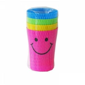 Високи пластмасови чаши 4бр. Усмивка - Т4-12