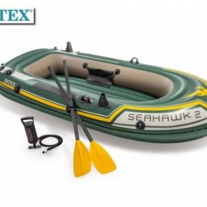 Лодка надуваема двуместна 236х114х41 с гребла