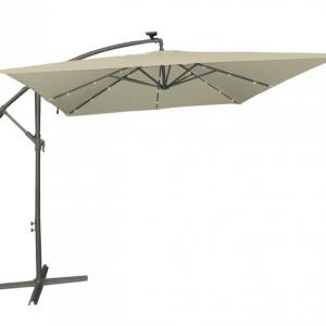 Чадър градински с LED осветление TLB017-S Taupe