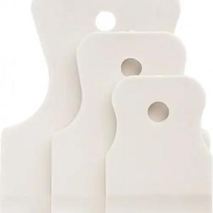 Комплект шпакли гумени бели  40-60-80