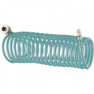 Маркуч за въздух спирален, 10m, с бързи връзки, полиуретан
