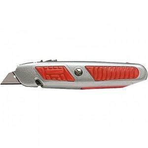 Макетен нож, 18mm, изтеглящо се острие, отделение за остриета, метален корпус