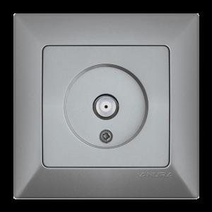 Контакт ANURA за F-конектор, алуминиев цвят