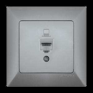 Контакт ANURA мрежови, алуминиев цвят