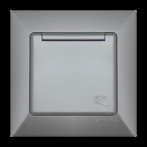 Контакт ANURA с капак, алуминиев цвят