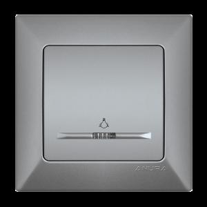 Ключ ANURA стълбищен, светещ, алуминиев цвят