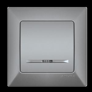 Ключ ANURA сх.1 /светещ/ алуминиев цвят