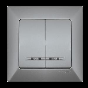 Ключ ANURA сериен сх.5, светещ, алуминиев цвят
