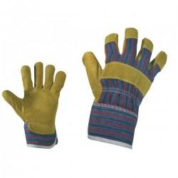 Ръкавици от кожа и плат