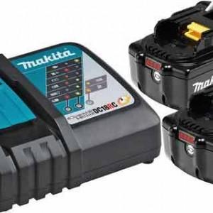 Комплект Батерии-2бр.+зарядно BL1850x2,DC18R