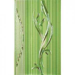 Декор Сорел зелен 25х40 7387