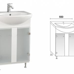 Долен шкаф за баня ЛОТОС 55