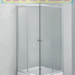 Квадратна душ кабина Клео с корито