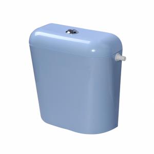 Пластмасово тоалетно казанче с изолация синьо