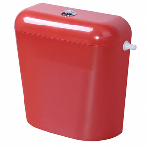 Пластмасово тоалетно казанче с изолация червено