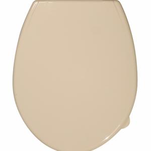 Пластмасова тоалетна седалка кремава