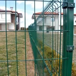 Оградно Пано зелено прахово боядисано с размери 2,5/1,5м Ф4