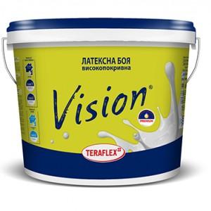 Професионален високопокривен латекс Терафлекс Vision бял сатен 2.5 л.