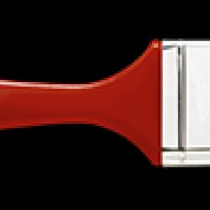 Плоска бояджийска четка червена дръжка 30мм