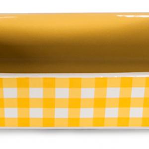 Керамична тава правоъгълна жълто каре