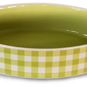 Керамична тава овал зелено каре
