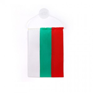 Знаме на България 10/14 см. с вакуум за автомобил