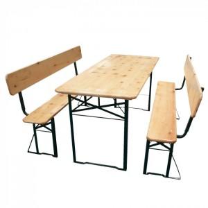 Бирен сет - маса с 2 пейки TLW011-А1