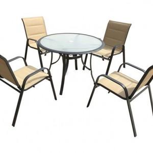 Градински сет 5 части - 4 бр столове, 1 бр маса WR2096