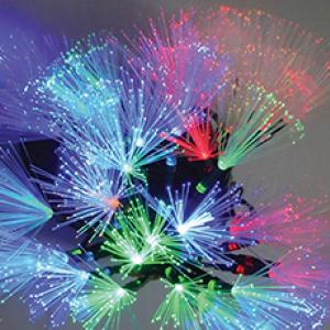 Украса LED фиброоптични влакна 30бр. 4,1м 3,6W цветни IP20 230V
