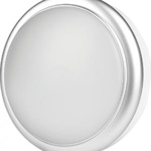 LED аплик SIRIUS 8W 220V 4000К Ф140мм сребро IP54