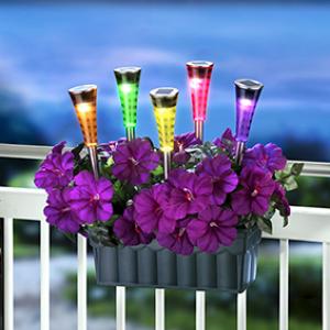 ПромоСоларна лампа за градина с променящи се цветове SS-6012 LED