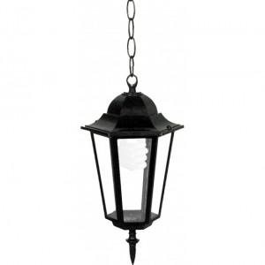 Градински фенер TINO P/ BLACK черен E27 60W