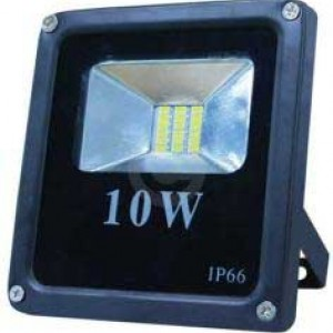 Прожектор LED SLIM 10W IP65 CW6000K черен