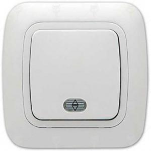 Ключ GOKKU девиатор схема 6 бял светещ