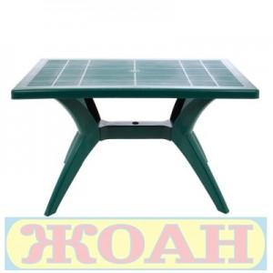 Градинска маса правоъгълна 120х70 см. зелена
