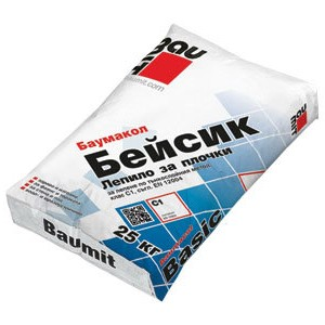 Лепило за плочки BAUMIT BASIC BAUMACOL 25кг