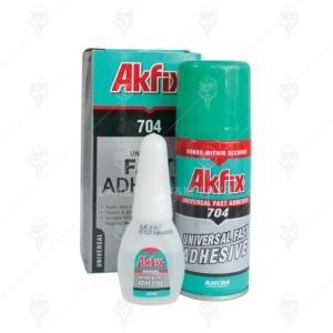Лепило 704 AKFIX секундно с активатор, 100 ml. + 25 g