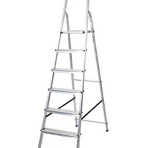 Домакинска алуминиева стълба 6+1 DRABEST