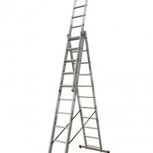 Професионална трираменна алуминиева стълба CORDA 3х11