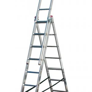 Професионална трираменна алуминиева стълба CORDA 3х09