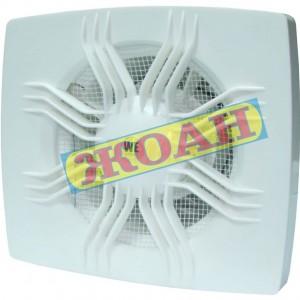 Вентилатор We Ф120 квад.+клапа слънце